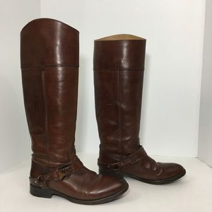Frye Harness Riding Tall Boots Brown Leather 6.5